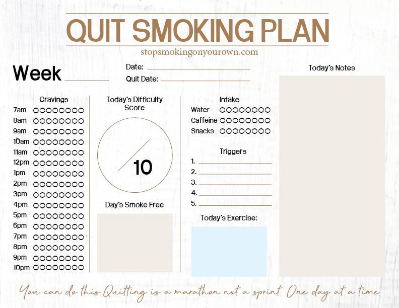 Printable Quit Smoking Plan